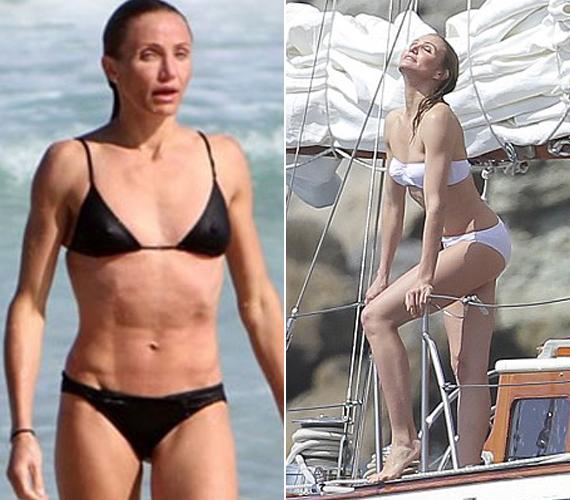 A színésznő a You magazinnak vallotta be, hogy egyre kevésbé érdekli, hogy tökéletes legyen a teste, pusztán jól akarja érezni magát a bőrében. Bal oldali, régebbi képéhez viszonyítva valóban nőiesedett picit.