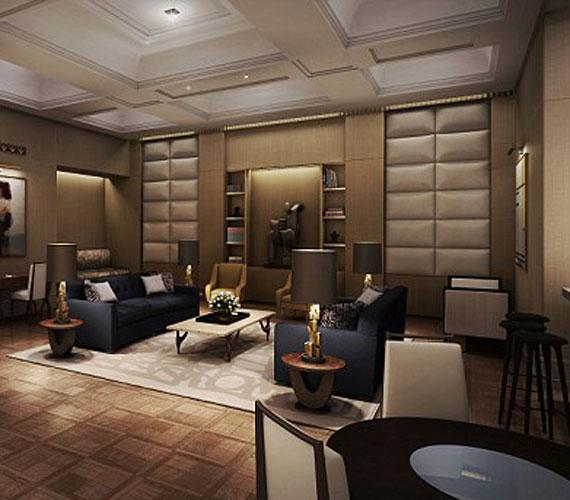 A bézs színben pompázó nappali igazi kényelmet és kikapcsolódást nyújthat a nyugalomra vágyóknak.