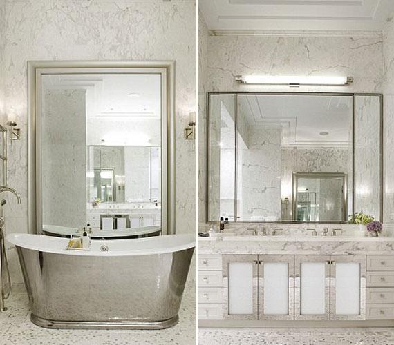 A fürdőszobában hatalmas kád található, ahol a színésznő egy nehéz nap után valóban el tud lazulni.