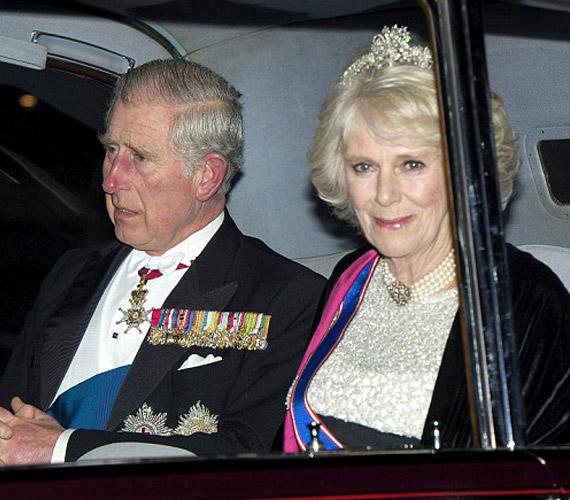 Camilla ugyanazt a tiarát viselte kedden este, amit első férjével kötött esküvőjén is.