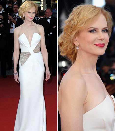 Nicole Kidman                         A zárónapra egy Giorgio Armani kreációban érkezett, melyet apró kristályok díszítettek.