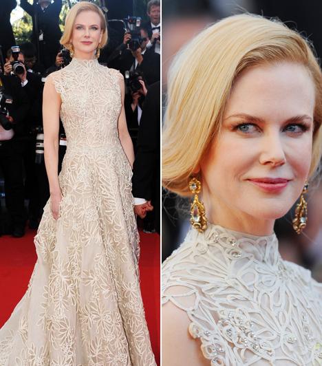 Nicole Kidman                         Csipkés Valentinójában maga volt a megtestesült elegancia, melyet a Fred Leighton ékszerek csak még inkább kiemeltek.
