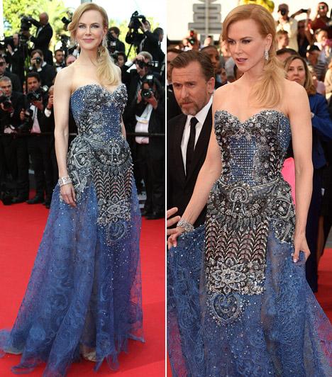 Nicole Kidman  A színésznő filmje volt a nyitó a Cannes-i filmfesztiválon. A premierre egy gazdagon díszített Armani ruhában érkezett.  Kapcsolódó cikk: Mit tett magával Nicole Kidman? Teljesen felpuffadt a színésznő arca »