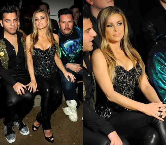 A szép színésznő divatőrült barátaival érkezett a rendezvényre.