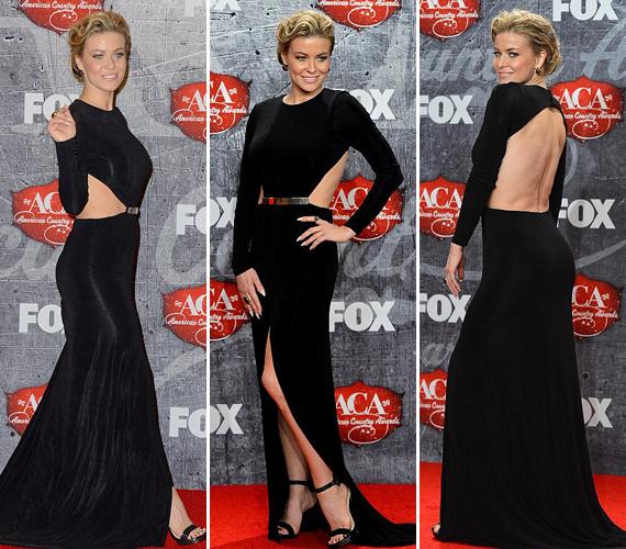 Imádja a rafinált szabású ruhákat, az American Country Awards díjátadóra például ezt a hátul teljesen nyitott darabot választotta.