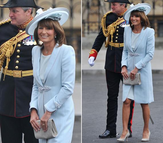 Lánya, Katalin esküvőjén egy Jane Corbett által tervezett kalapot és egy halványkék, Catherine Walker keze munkáját dicsérő ruhát viselt - utóbbi Diana hercegnő kedvenc tervezője volt.