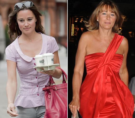 Katalin és Pippa közül az utóbbi az, aki jobban hasonlít külsőre az anyjára.