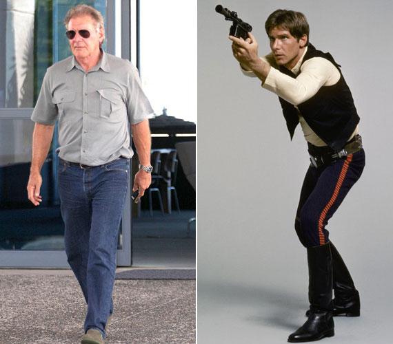 A 70 éves Harrison Ford jó formában maradt. Igaz, ő folyamatosan szerepelt akciófilmekben is, így nem nagyon állt módjában elhízni.