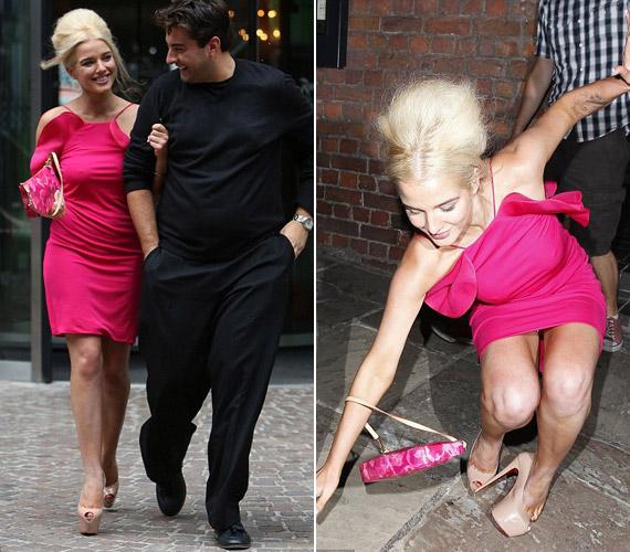 Helen Flanagant is túl magas cipője győzte le a nyílt utcán.