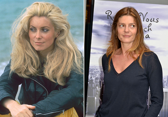 Egy fiatalkori fotó Catherine-ról, amely a nyolcvanas években készült, és egy másik kép lányáról, Chiaráról. Jól látható, mennyire hasonlítanak egymásra.