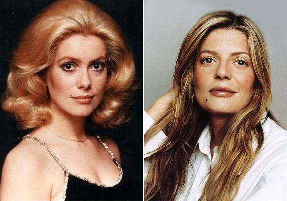 Chiara Mastroianni arcán visszaköszönnek édesanyja fiatalkori vonásai, de színeit olasz apjától, a színész Marcello Mastroiannitól örökölte.