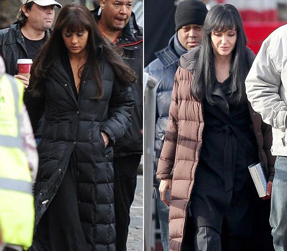 Megdöbbentő a hasonlóság: bal oldalon Catherine Zeta-Jones, jobb oldalon pedig Angelina Jolie.