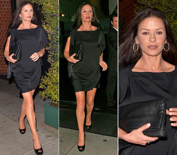 Pár hete ebben az egyszerű ám mégis nagyszerű kis feketében kapták le, amint egy Beverly Hills-i étteremből távozott.