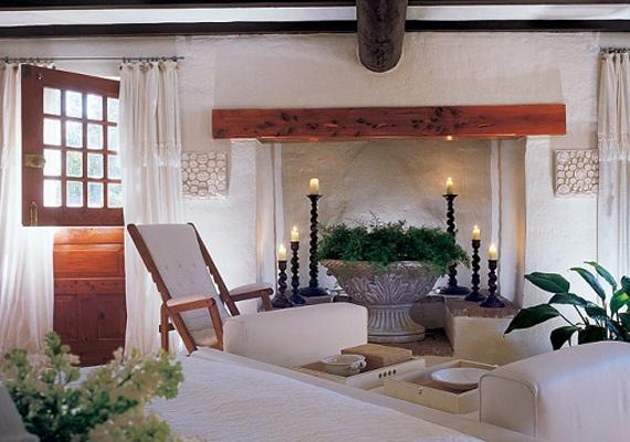 Ezt a szobát fehér vagy tisztaszobának hívja sztárpár - vendégszobaként funkcionál, itt szállnak meg éjszakára a barátok és családtagok.