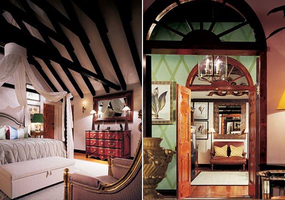 A nappali és a háló gerendái cédrusfából készültek, de újrafestették őket, hogy mélyebbnek és melegebbnek tűnjön az összhatás.