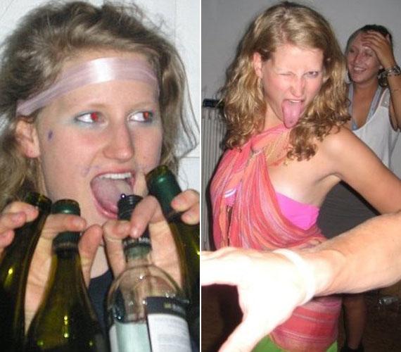 Jó pár üveg alkohol elfogyasztása után több alkalommal mutogatta a nyelvpiercingjét.