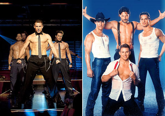 A Magic Mike-ban Channing Tatum mellett Matthew McConaughey, Joe Manganiello, Matt Bomer és Alex Pettyfer is levetkőzött.