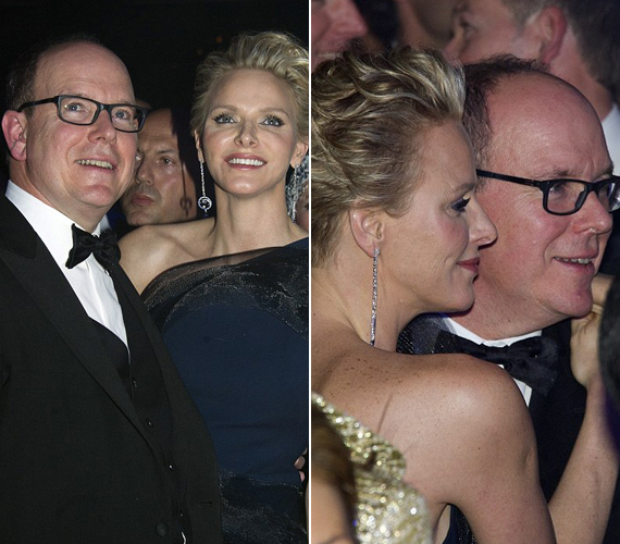 Ritkán lehet ilyen bensőséges pillanatban elkapni Albert herceget és feleségét.