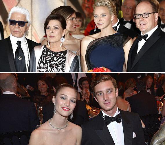 Caroline hercegnő Karl Lagerfeldet is meghívta. Jelen volt legfiatalabb gyermeke, Pierre Casiraghi is, aki barátnőjével érkezett.