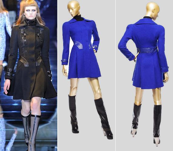 A fekete kabát kapható díszesebb verzióban és kék színben is.