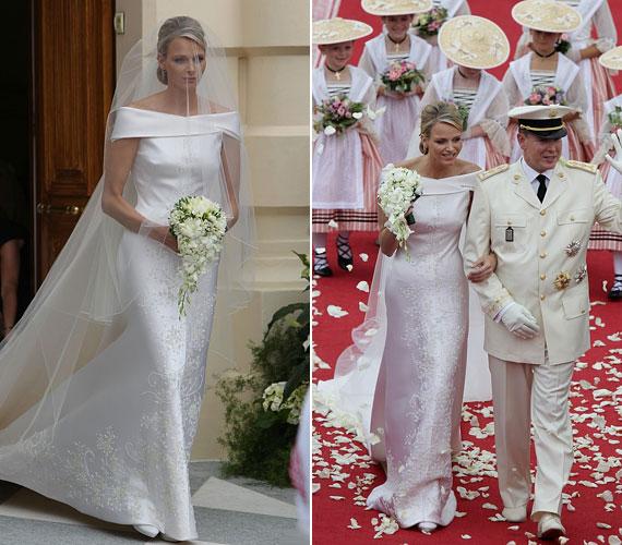 A királyi esküvőre 2011. július 2-án, Monacóban került sor, a hercegnő gyönyörű Armani ruhát viselt, amelyet külön neki terveztek.