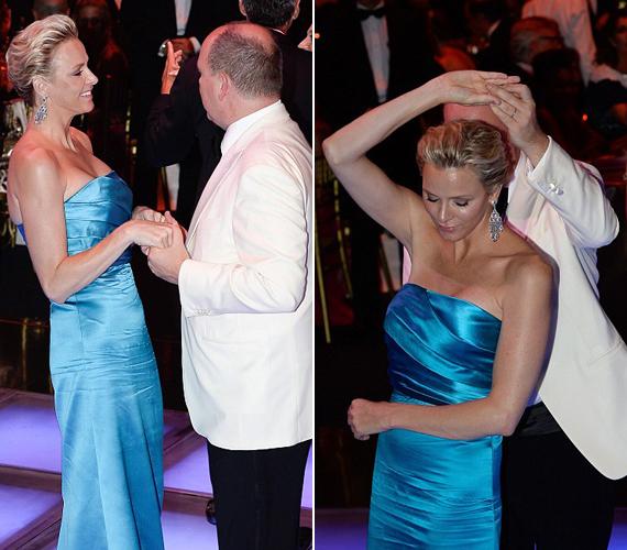A hercegi pár nem volt rest, táncra is perdült az eseményen.