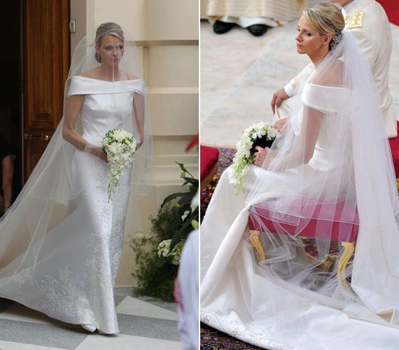 II. Albert monacói herceg és Charlene Wittstock polgári esküvőjét 2011. július 1-jén-án tartották, majd másnap július 2-án az egyházi szertartásra került sor. Giorgio Armani ruháját 40 ezer Swarovski kristály díszítette, elkészítése 2500 órába telt.