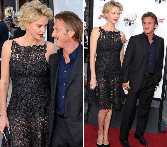 A színésznő Dior ruhája remekül állt karcsú alakján.