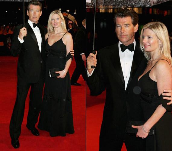 2006-ban még nem volt semmi baj, Pierce és Charlotte Brosnan jókedvűen vonult végig a vörös szőnyegen.