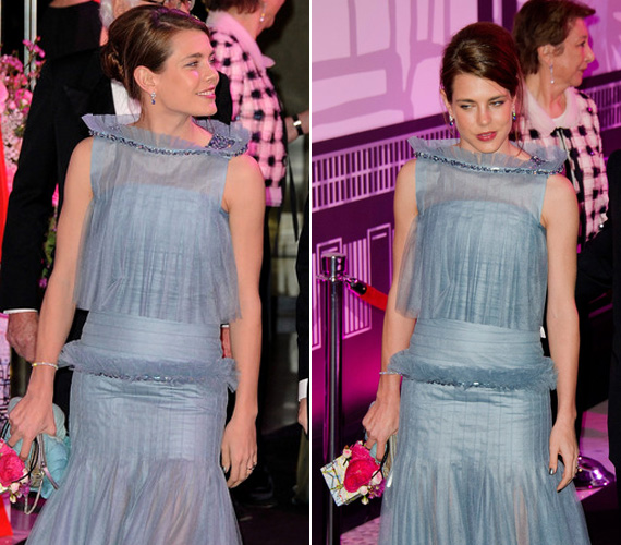 Az estélyi ruha színe remek választás volt, a hercegnő felsőtestét zsákszerűvé formáló, fodros felső és a csípőjére húzott fodrok már kevésbé.