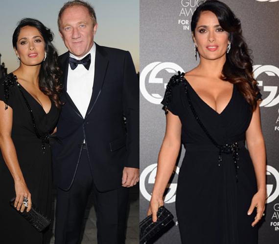 Salma Hayek férjével, Francois-Henri Pinaulttal érkezett a díjátadóra.