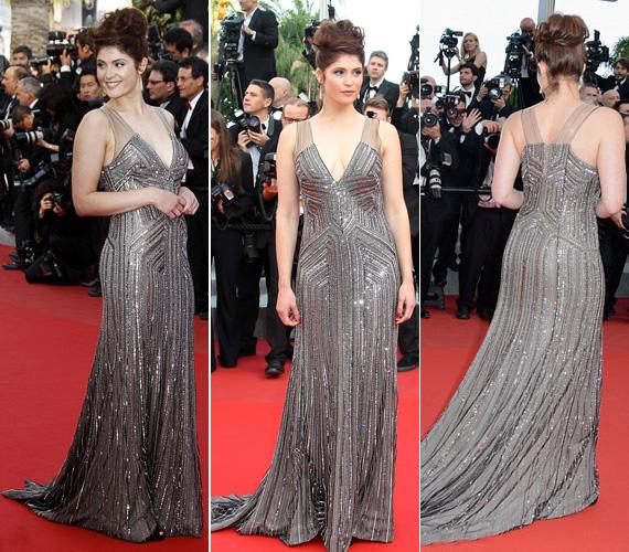 Gemma Arterton színésznő ezüstben tündökölt.