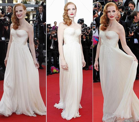 Az Oscar-jelölt Jessica Chastain hozta a tőle elvárt hollywoodi dívák finom eleganciáját.