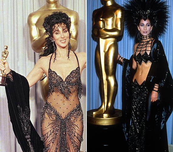 Chert kétszer jelölték Oscar-díjra a nyolcvanas években, de csak a másodikat ítélték neki. Akkor a Holdkórosok című 1988-as filmért jutalmazták. Egyik alkalommal sem öltözött túl visszafogottan, mindkét ruhából kilátszott a hasa, és sok minden más is.