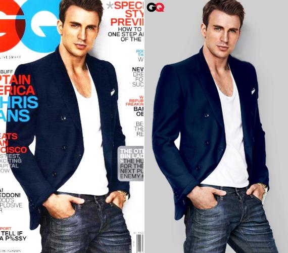 Chris korábban is szerepelt már a GQ-ban, igaz, akkor még nem színészként - csak modellt állt Tom Ford elegáns kollekciójához.