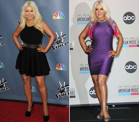 2013 márciusában a The Voice-bemutatkozáson és 2012 novemberének közepén: az énekesnő szemmel láthatóan kezdett visszatérni régi önmagához és a csinos, szexi külsőhöz.