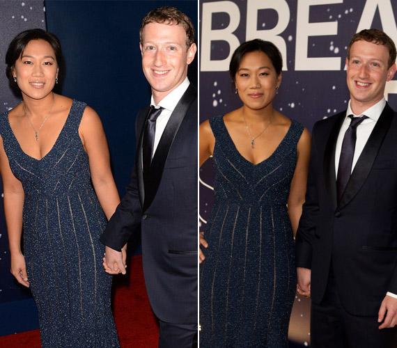 A Facebook atyja,Mark Zuckerberg feleségével,Priscilla Channel érkezett.