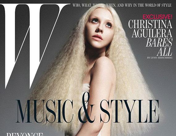 Nemcsak Christina Aguilera arca kevésbé kerek a borítófotón, de egész testének gömbölydedségét alaposan lefaragták a képeken.