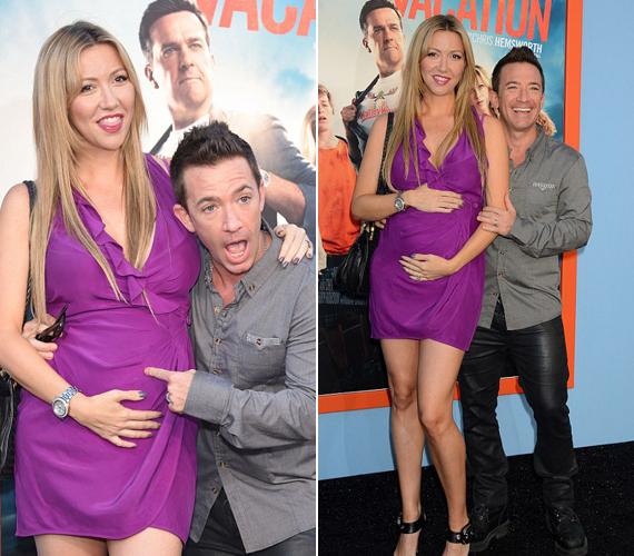 Davidet a barátnője, Lindsay Bronson is elkísérte, aki első közös gyermekükkel, egy kislánnyal várandós. A leendő apuka láthatóan nagyon büszke a még meg sem született babára.