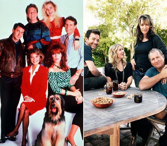 Bár az Egy rém rendes család című sorozat 18 évvel ezelőtt befejeződött, a szereplők a mai napig gyakran találkoznak. Az egyik ilyen alkalommal készült a jobb oldali fotó.