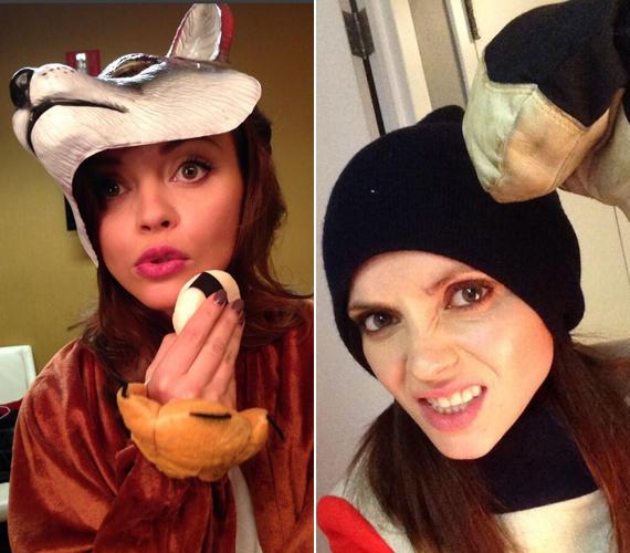A színésznőt meghívták a LIVE with Kelly and Michael műsorba, ahová jelmezben érkezett.
