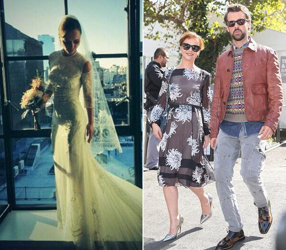 A menyasszonyi ruhás fotóját is a Twitteren tette közzé.