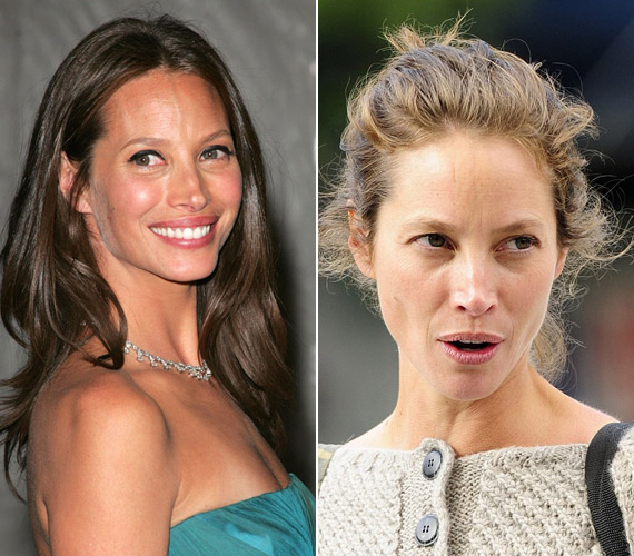 Látványos a különbség a sminkelt és a festék nélküli arca között.
