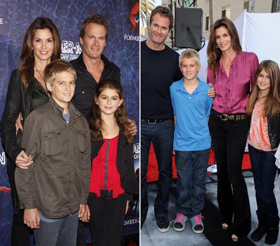 Cindy Crawford 1998. május 29-én ment hozzá Rande Gerberhez, akitől két gyermeke született: fia, Presley Walker 12 éves, kislánya, Kaia Jordan Gerber szeptemberben múlt tíz.
