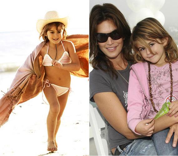 Sokan nem helyeslik, hogy a világhírű modell már most a kamerák elé állította kislányát. Szerintük tönkreteszi az ártatlan gyerekkorát.