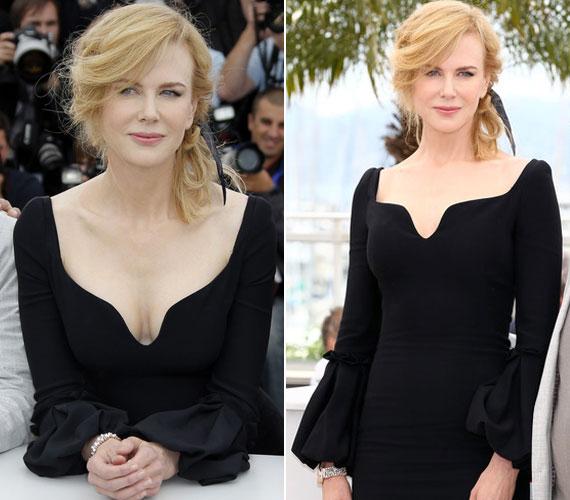 Nicole Kidman az Alexander McQueen divatház 2013-as őszi kollekciójának egyik fekete darabját viselte, amely szintén nem nélkülözte a merészséget.
