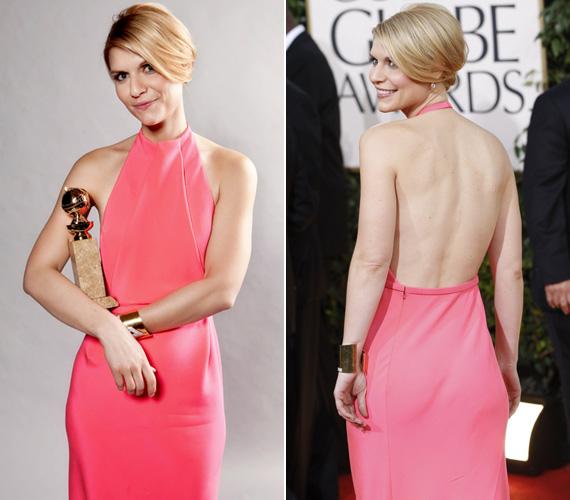 A 2011-es Golden Globe-gálán egy hátát szabadon hagyó estélyiben vette át a legjobb színésznőnek járó díjat a legjobb televíziós sorozat drámai kategóriájában a Temple Grandinért.