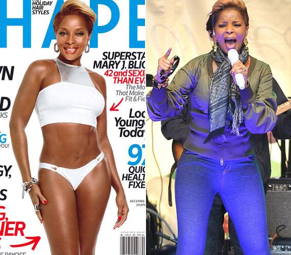 Mary J. Blige énekesnő is elkezdett edzeni, ami az alakján is meglátszik.