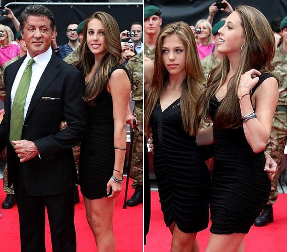 Sylvester Stallone és Jennifer Flavin két gyönyörű nagylány, a 15 éves Sophia Rose és a 14 éves Sistine Rose boldog szülei.