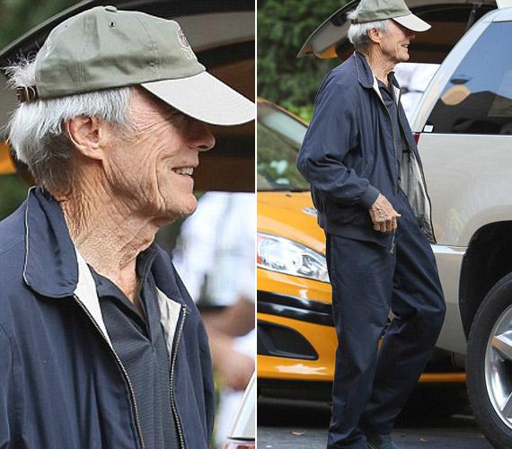Az idős kor már egész testén látszik, a mozgás is nehézkessé vált számára.